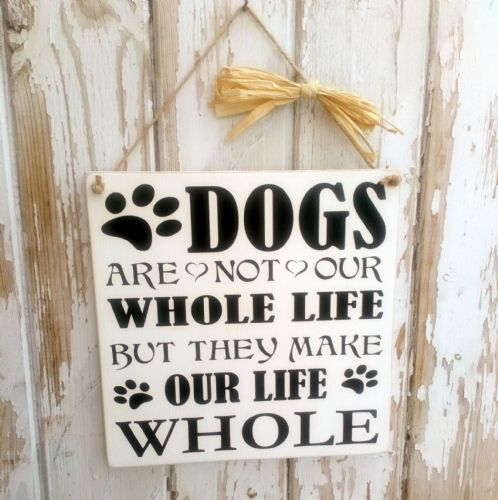 Dogs Are Not Our Whole Life - Square Wooden Plaque